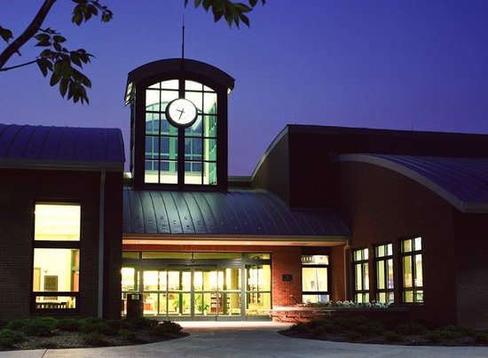 Erlanger, KY: Kenton County Public Library at night