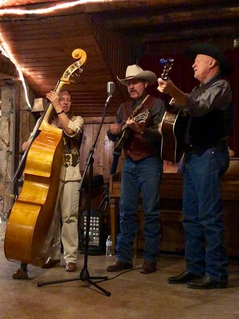 Kingston, NM: The county Sheriff bluegrass band