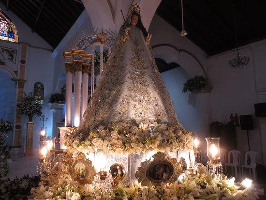 """Santuario Mariano Iglesia Natividad de la Virgen Since: Arreglo 2018 de salida procesional,Titulado:""""Virgen María Señora Augusta, fuente de luz y de Gra"""