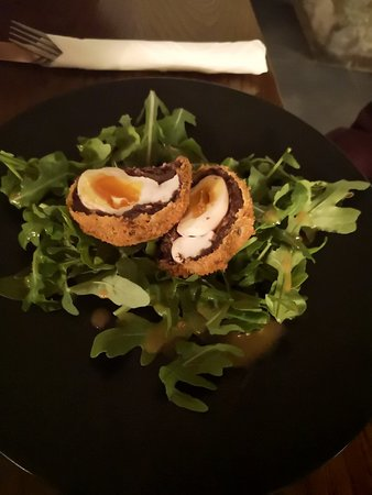 Turvey, UK: Black pudding scotch egg