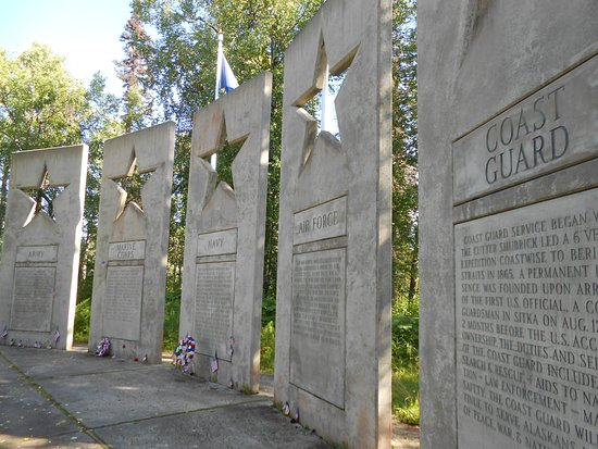 Alaskan War Veterans Memorial: Alaska War Veterans Memorial, Milepost 147.1, The Parks Highway.