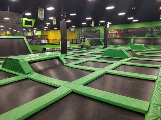 Launch Methuen's Main Court includes 18,000 Sq. Ft. of interconnected trampolines!