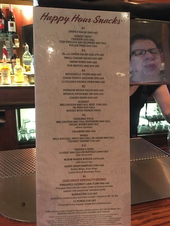 Happy Hour Menu Picture Of Claim Jumper Restaurants