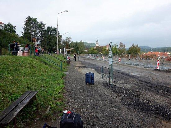 Pension Barbakan: Cesky Krumlov AN Bus Station under construction