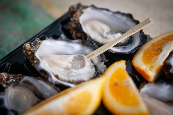 Swansea, Australia: fresh oyster with local lemon