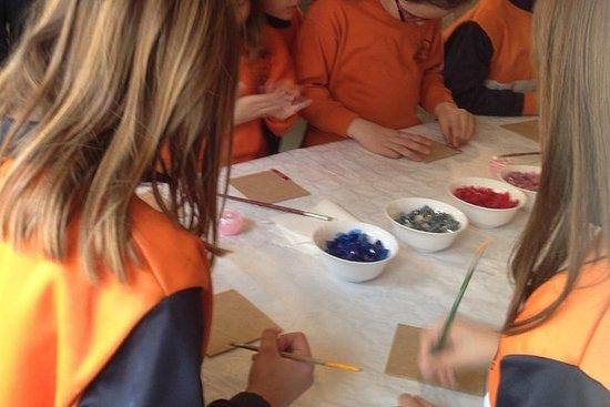 Mosaik klasse for børn i Barcelona