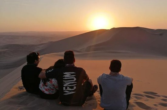 Sunset at the Oasis of Huacachina