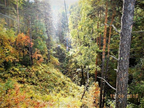 Chairlift to Mountain Tserkovka