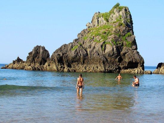 Province of Vizcaya, إسبانيا: Playa Laga, junto al Peñón de Ogoño