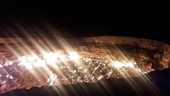 Halkara Dostluk: Fire at night.
