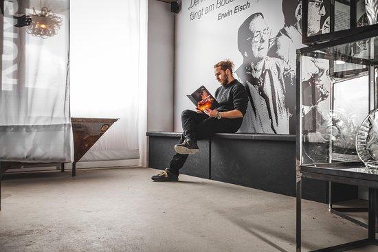 Impression aus der Tour durch das GlaSensium der Glashütte Valentin Eisch in Frauenau.