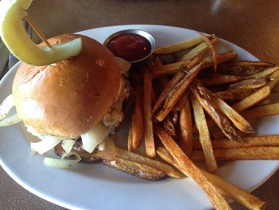 Carthage, TX: Cajun Blackened Blue Cheese Burger