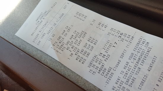 Mallorytown, Canada: our bill