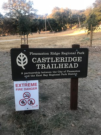 Pleasanton, Californien: Trailhead Sign