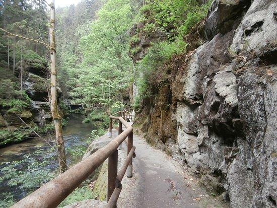 Гренско, Чехия: Edmundova soutěska - Hřensko