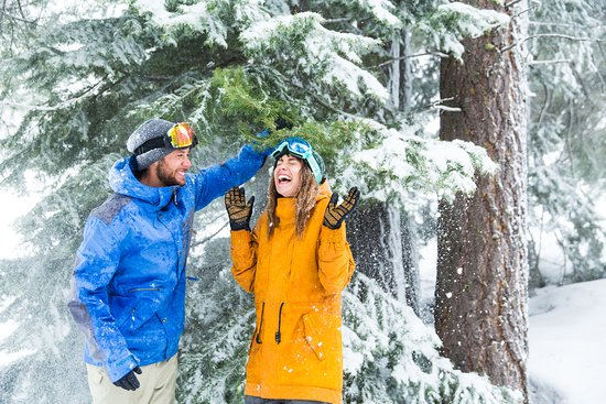 Sparks, NV: Playful snow day at Diamond Peak