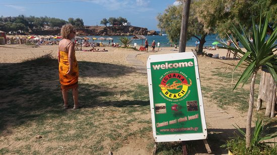 Chania Prefecture, Greece: Iguana beach..la parte attrezzata