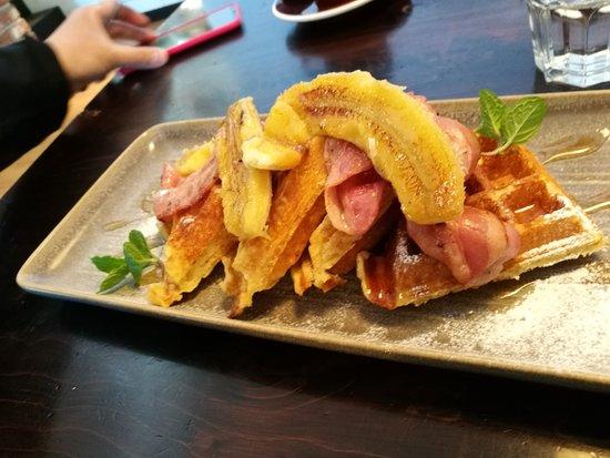 Twizel, Nya Zeeland: menu breafkast Waffle