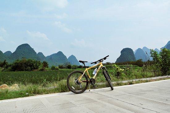 Bike Asia Cycling Tours: my bike along the Yulong river