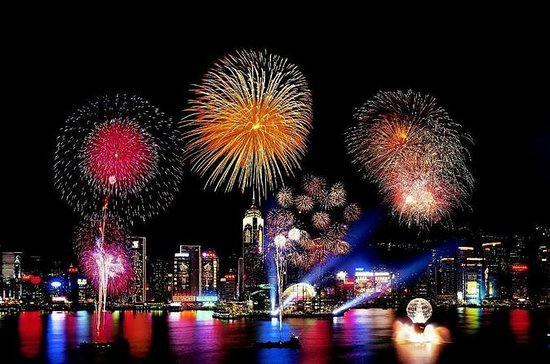 Hong Kong New Year's Eve Fireworks...