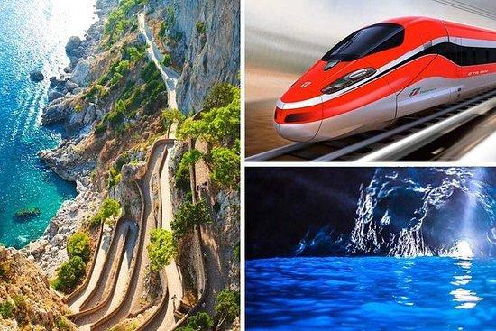 列車でローマからカプリ島とソレント海岸クルーズ