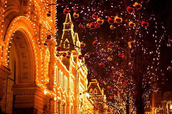 Silvester auf der Moskauer...