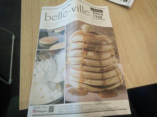 their menu booklet picture of belle ville singapore tripadvisor