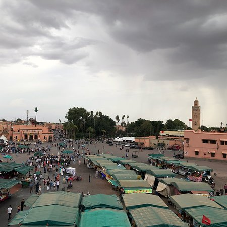 Best view in Marrakesh square