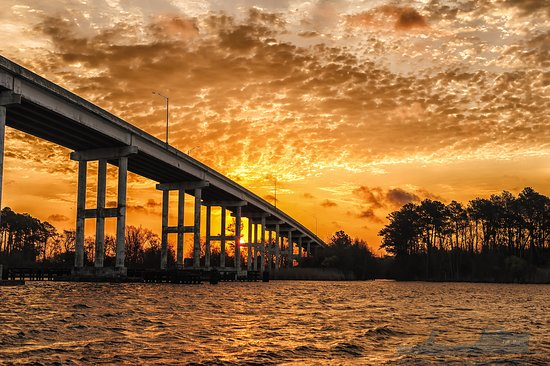 Moore To See Photo Expeditions: Sunset at Pungo Ferry Bridge on the North Landing River
