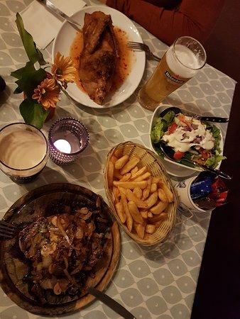 Glasson, Irlanda: unser Abendessen