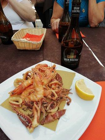 La Piazzetta Fish Bar: Frutas marinas.