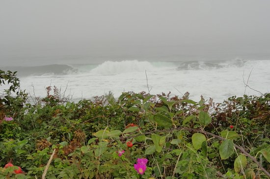 Nauset Beach: Wave action on this day.