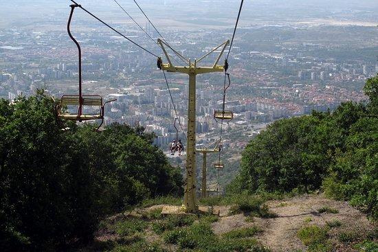 Zheravna, Bulgária: Спуск на канатке к Сливену