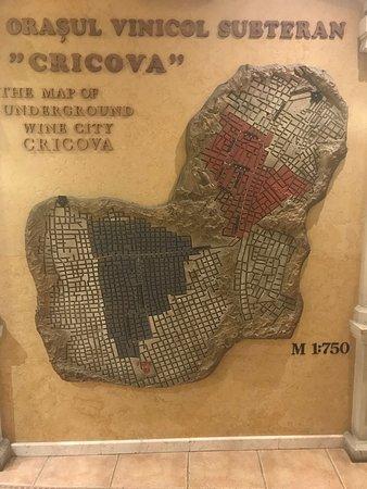 Cricova, Moldova: Underground map