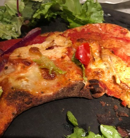 Overcooked Picture Of Pizza Express Surbiton Tripadvisor