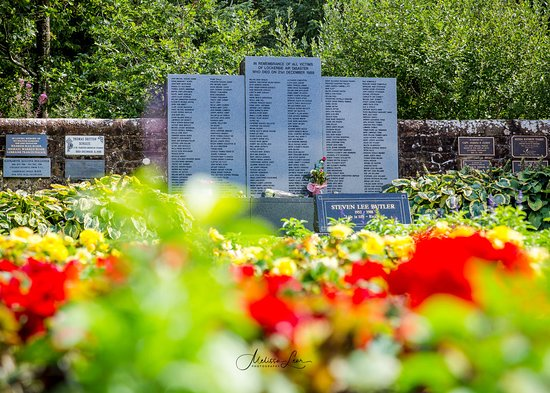 Lockerbie Garden of Remembrance: List of all the names of those who lost their lives in the air disaster.
