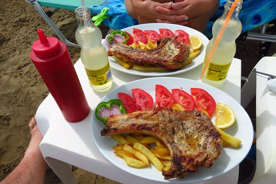 Summertime: Pork Stake on the beach, it doesn't get better than this