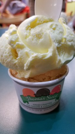 Thomas Sweet Ice Cream: Regular size: Lemon Custard and Pumpkin