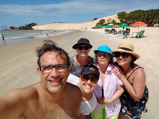 Praia de Genipabu: Pra curtir em familia
