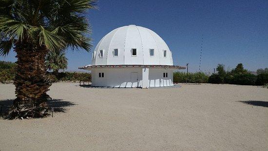 Landers, CA: Yurt style building where sound bath occurs