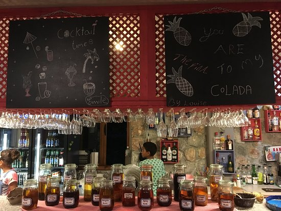 Bahceli, Cipro: The selection of homemade spiced rum