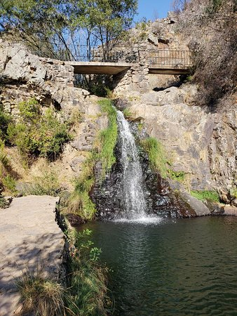 Penedo Furado: Easy to moderate difficulty walking back to the waterfall (about 1.2KM)