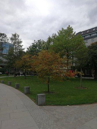 Kleiner Park der zum entspannen einlädt