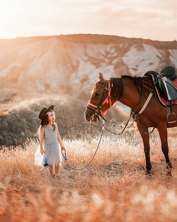 My daughter and her horse Melek