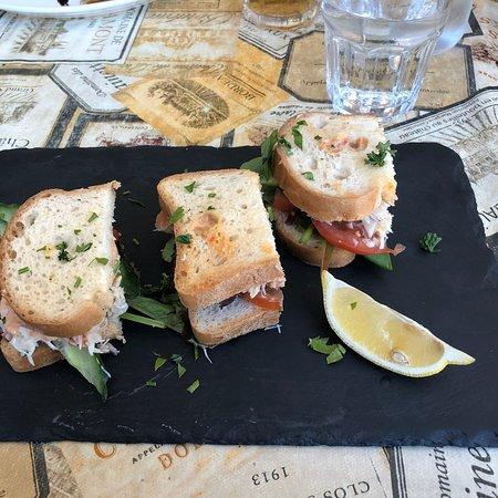 The Cornish Deli: Gluten free crab sandwich - tiny