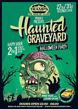 Halloween Party Packages.Haunted Graveyard Halloween Party Tramps The King Of Clubs In Playa De Las Americas Tenerife 2 Picture Of Tramps The King Of Clubs Tenerife Tripadvisor