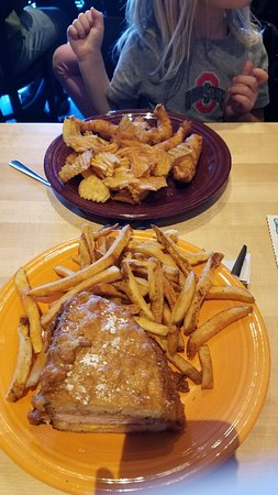 Over fried food and bread to meat proportions poor