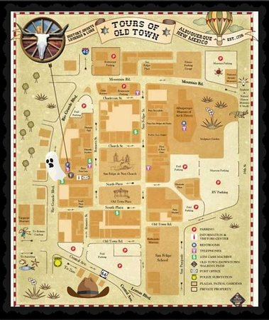 Old Town Map - Find Us - Picture of History and Ghost Tours of Old ...