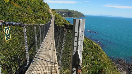 Paekakariki, Neuseeland: swing bridge views