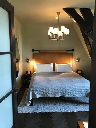 The Hoxton, Amsterdam: The Cosy room. Plenty of room for two. Canal view.